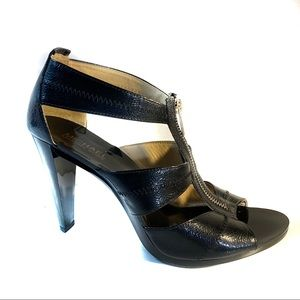 Michael Kors Berkeley Black leather heels 10